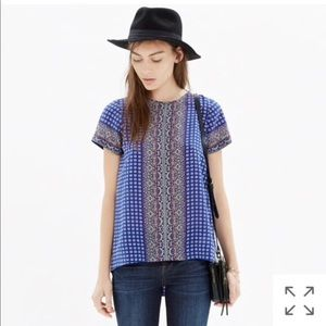 Madewell High Low Silk Blouse